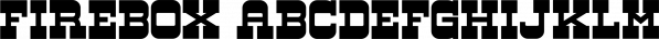 Firebox font family by RetroSupply Co.