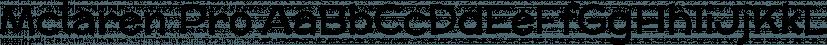 Mclaren Pro font family by Stiggy & Sands