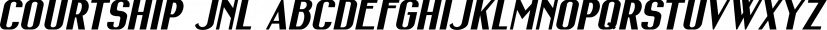 Courtship JNL font family by Jeff Levine Fonts