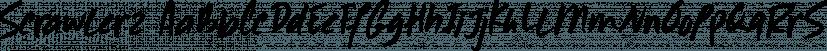 Scrawlerz font family by Hanoded