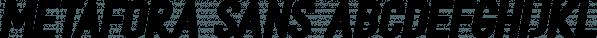 Metafora Sans font family by Dirtyline Studio