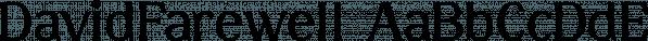 DavidFarewell font family by Ingrimayne Type
