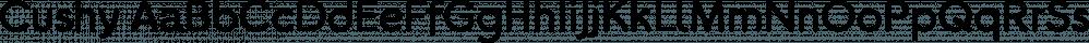 Cushy font family by Jeff Kahn
