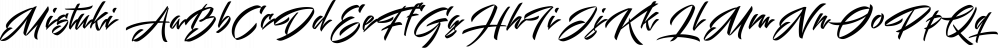 Mistuki font family by Måns Grebäck