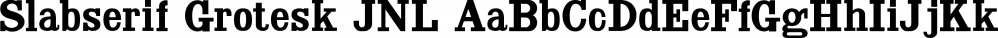Slabserif Grotesk JNL font family by Jeff Levine Fonts