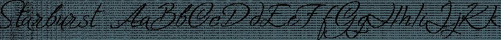 Starburst font family by Resistenza.es