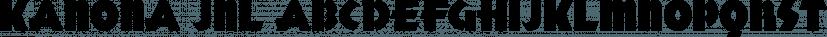 Kanona JNL font family by Jeff Levine Fonts