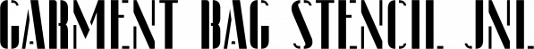 Garment Bag Stencil JNL font family by Jeff Levine Fonts