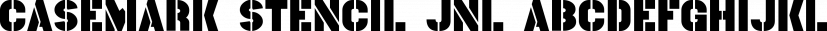Casemark Stencil JNL font family by Jeff Levine Fonts