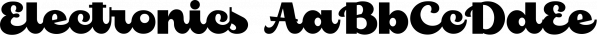 Electronics font family by Måns Grebäck