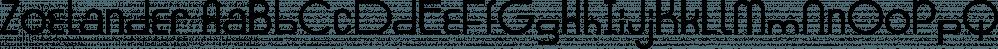 Zoelander font family by Locomotype