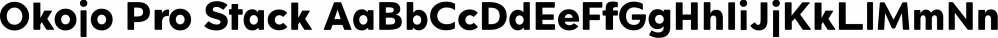 Okojo Pro Stack font family by Wordshape