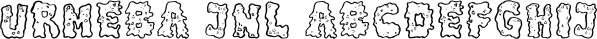Urmeba JNL font family by Jeff Levine Fonts