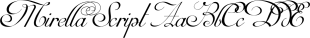 Mirella Script font family mini