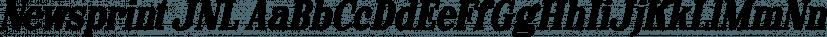 Newsprint JNL font family by Jeff Levine Fonts