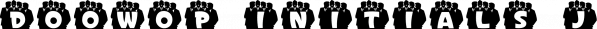 Doowop Initials JNL font family by Jeff Levine Fonts