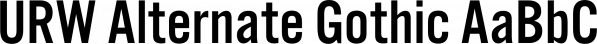 URW Alternate Gothic font family by URW Type Foundry