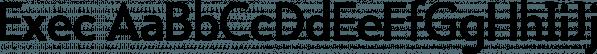 Exec font family by Wiescher-Design
