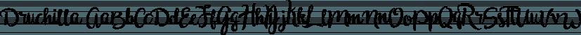 Druchilla font family by madeDeduk