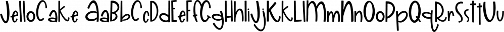 JelloCake font family by On The Spot Studio