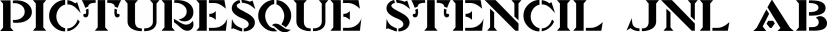 Picturesque Stencil JNL font family by Jeff Levine Fonts