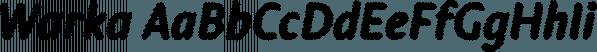 Warka font family by Etewut