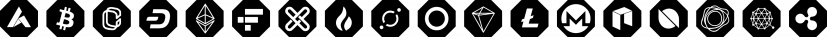 Cryptocurrency font family by Bülent Yüksel