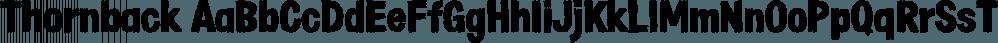 Thornback font family by Lauren Ashpole