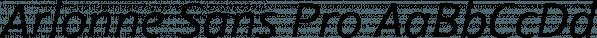 Arlonne Sans Pro font family by Sacha Rein