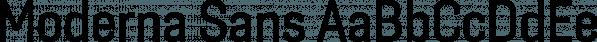 Moderna Sans font family by Latinotype