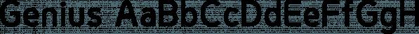 Genius font family by Artegra