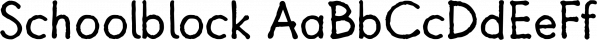 Schoolblock font family by Wiescher-Design