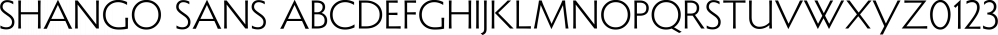Shango Sans font family by CastleType