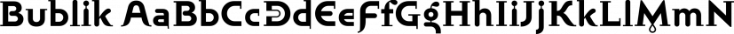 Bublik font family by ParaType