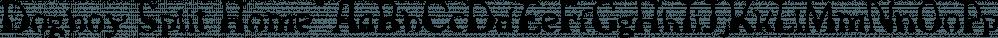 Dogboy Split Home™ font family by MINDCANDY