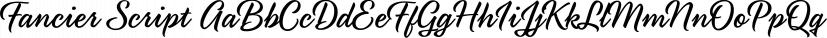 Fancier Script font family by Jess Latham
