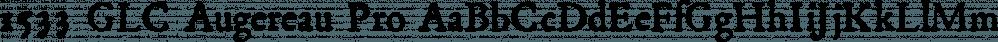 1533 GLC Augereau Pro font family by GLC Foundry