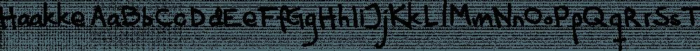 Haakke font family by Dawnland