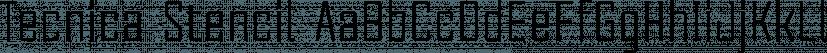 Tecnica Stencil font family by Graviton