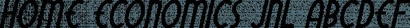Home Economics JNL font family by Jeff Levine Fonts