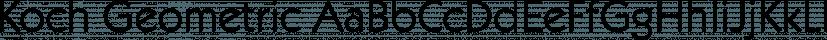 Koch Geometric font family by FontSite Inc.