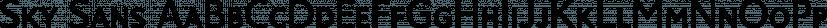 Sky Sans font family by Aviation Partners