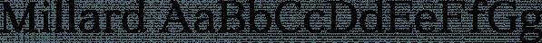 Millard font family by Artegra
