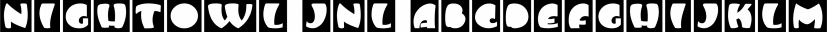 Nightowl JNL font family by Jeff Levine Fonts