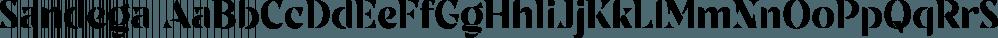 Sandega font family by Locomotype