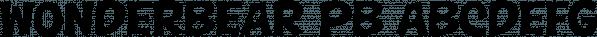 Wonderbear PB font family by Pink Broccoli