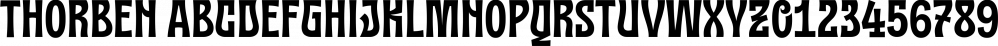 Thorben font family by Studio Buchanan