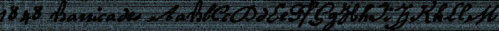 1848 Barricades font family by GLC Foundry