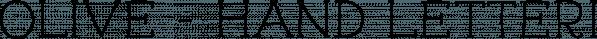 Olive - Hand Lettering Tool Kit font family by Letterhend Studio
