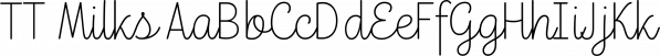 TT Milks font family by Typetype